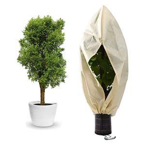 Yidaxing Hivernage pour Plantes, Housse de Plante, Housse de Protection pour Plante Non Tissée Protection Contre Le Gel des Plantes en Pots et Rosiers (120 x 180CM)