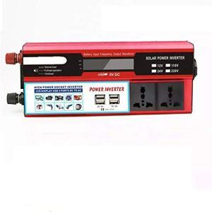 ZHANGJA 6000w 12 V / 24 V à 110 V / 220 V 4 USB Convertisseur De Puissance De Voiture NuméRique Convertisseur Adaptateur Chargeur Transformateur De Tension à Onde SinusoïDale ModifiéE