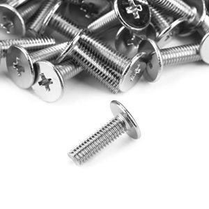 100pcs Acier au Carbone M3 Pièces de Réparation de Machines à Vis à Tête Plate de Diamètre de Tête de 7mm(M3*10 * 7)