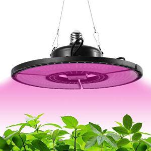 400W Lampe de Plante 504LEDs, 3Têtes Lampe de Croissance à 360 ° Éclairage Horticole Avec 3 Modes et 7 Luminosité Chronométrage Auto -ON/OFF pour Plantation Fruits /Légumes (504Leds (400W))