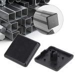 50 pièces profilé en aluminium couvercle d'extrémité couvercle de capuchon d'extrémité fixations en plastique noir pour 2020/3030/4040 profils en aluminium Standard UE(EU Standard 2020)