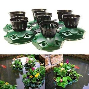 7pcs Aquaponics Floating Pond Planter Basket Kit – Hydroponic Island Gardens by Aquarium Supplies