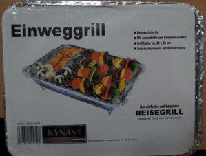 Aluminium zündfertig barbecue jetable à charbon