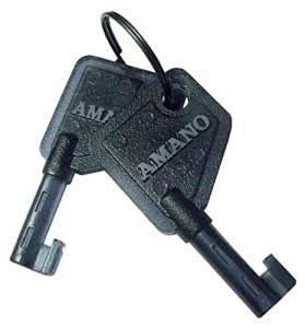 Amano Lot de 2 clés en plastique pour PIX 10/15/25/28/55/75/95 et TCX 45/85/88 (Amano partie # AJR-201150)