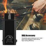 Barbecue Rotisserie moteur, en aluminium réglable Vitesse Gril Four BBQ outil moteur Accessoires 3-12V (EU Plug 220-240V)