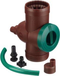 Beckmann V2 Collecteur filtrant pour récupération Eau de Pluie Marron