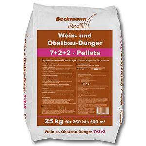 Beckmann Weindünger Engrais Fruits 25 KG Viticulture Arboriculture Fruitière Engrais Professionnel