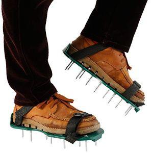 Beenle-Icey Chaussures Gazon Aerateur Pelouse Ventilateur Scarificateur pour Gazon Jardin Manuel Chaussures en Plastique 100% Recyclé Ldéal pour Les Petites Pelouses