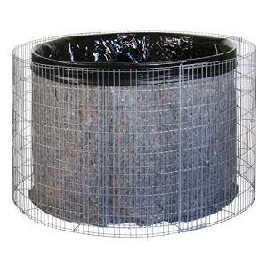 bellissa collecteur d'eau de pluie – 95560 – citerne d'eau de pluie pour jardin – bassin récupérateur d'eau, bâche de bassin et film de séparation inclus – diamètre 130/110 cm, hauteur 80 cm