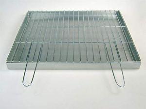 BitWa Bac à cendres et grille de cuisson avec poignées pliantes 60 x 50 cm