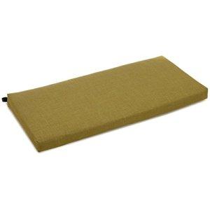 Blazing Needles Coussin de causeuse solide en polyester filé, 101,6 cm de large, Avocat
