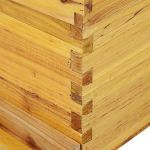 Boîte en Forme de Ruche pour Apiculteur au Miel en Bois de cèdre avec Cadre pour Apiculture, 10 Cadres