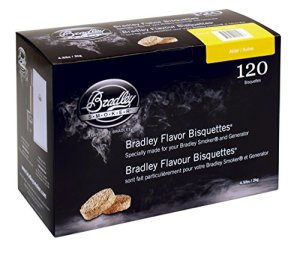 Bradley Alder Flavour Smokers BISQUETTES (Pack of 120)