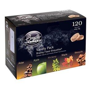 Bradley Smoker BT5FV120 Lot de 120 biscuits – Cinq arômes différents