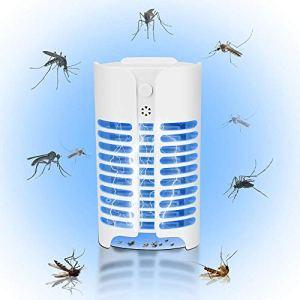 Bug Zapper Tueur de Moustique électronique, insectifuge Lampe électrique étanche Pest Control Piège Non-Toxique Silencieux, Lumière légère for Office Patio Intérieur Extérieur Chambre à Coucher FACAI