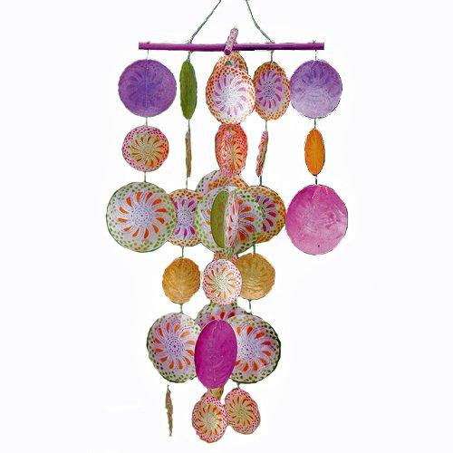 Capiz Coque Windbells Pearl 50cm de hauteur Décor NEUF–Tinas Collection–Le Design différents