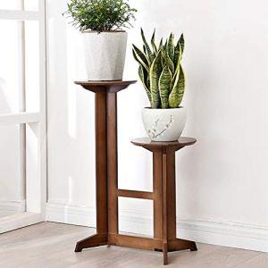 Cikonielf Présentoir pour plantes en bambou 49 x 30 x 53-80,5 cm Support pour fleurs plantes de jardin balcon décoration pour intérieur extérieur