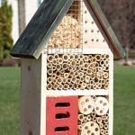 Clever Garden – Hôtel à Insectes en Bois – 24 x 9 x 36 cm