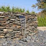 CLGarden EWE30 Acier inoxydable chute d'eau Élément utilisation pour bassins de jardin gabion mur mural 30 cm piscine ruisseau