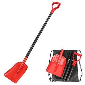 COFIT 120cm Pelle à Neige Quatre Pièces en Un Outil pour Suppression de Sable ou Neige à Usage Externe pour Voiture et Jardinage