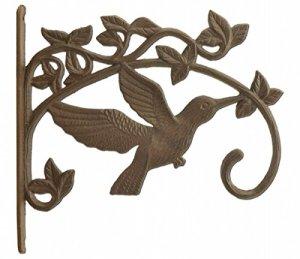 Colibri Plante Cintre en fonte décoratif panier de fleurs Crochet Grande taille 28,6cm de profondeur
