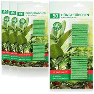 com-four® 200x bâtonnets d'engrais pour Plantes Vertes, Engrais végétal équilibré, pour Une Croissance Saine et vigoureuse sans sur-fertilisation