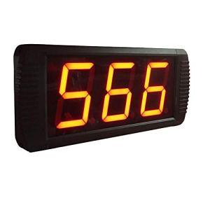Compte à rebours de 4 Pouces d'intervalle de Formation Compte à rebours Chronomètre Horloge Temps réel Grand Compte à rebours (Couleur: Noir, Taille: 35X10X4CM) Peng