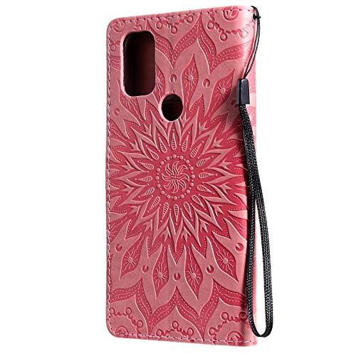 Coque pour OnePlus Nord N10 5G Antichoc étui Rabat Cuir Case Portefeuille TPU Gel Bumper Silicone Wallet Cover Aimant Housse pour OnePlus Nord N10 – ZIKT033386 Rose