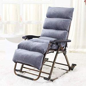 DKee Chaise longue à bascule confortable – Coussin à bascule – Pour la maison, les loisirs – Pour une détente maximale – Poids supporté : 200 kg