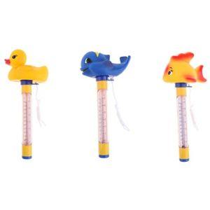 F Fityle Thermomètre De Piscine Flottant 3 Pièces avec Ficelle, pour Piscines Extérieures Et Intérieures, Spas, Bains à Remous, Jacuzzis Et Aquariums – Baleine