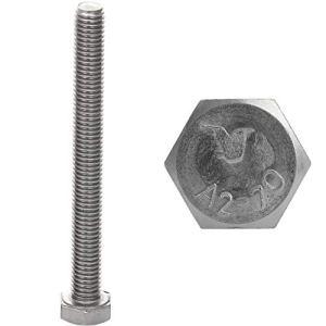 Faston Lot de 10 vis à tête hexagonale M10 x 25 en acier inoxydable A2 V2A DIN 933