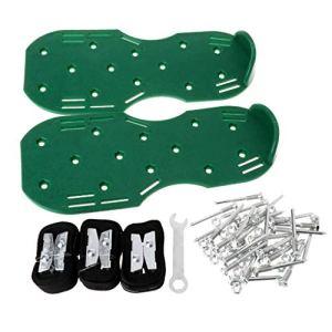 Fugift Une paire de chaussures aérateurs de pelouse, sandales à pointes pour cultiver les ongles, outil de jardinage pratique