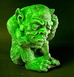 GeKi Trend Gnome lumineux pour le jardin résistant au gel Effet pierre fluorescente 32 cm
