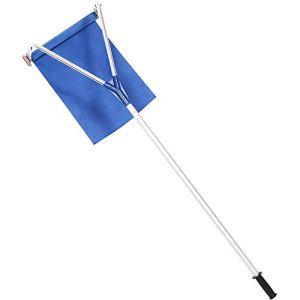 HENGGE Outil d'élimination de la Neige de la Neige de râteau de la Neige du Toit, Une poignée en Aluminium légère s'étend à 20 Pieds,Bleu