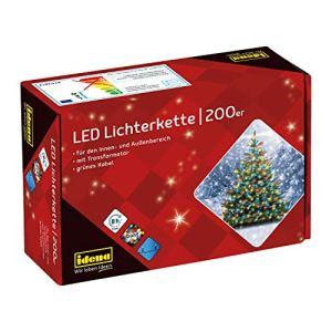 Idena 8325068 Guirlande lumineuse d'extérieur multicolore 200ampoules LED