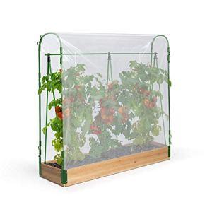 IDMarket – Serre à tomates spéciale Croissance kit Complet bâche + Support