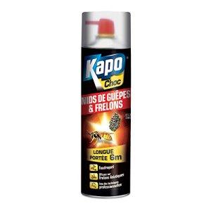 Insecticide longue portée spécial nids de guêpes, frelons KAPO Choc