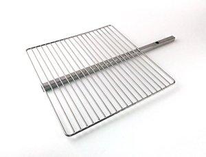 Keilbach Design Produits Grillrost pour Aura, Fluxus, de Light My Fire, Sun et Moon Accessoires pour feu postes, Acier Inoxydable, Dimensions 42× 40× 1,5cm