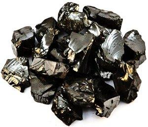 Keled Rocks Elite shungite détox Pierre 1,25+ pouce pierres de taille pour l'eau et la confection de bijoux, 2 Lb (930 Gramm)