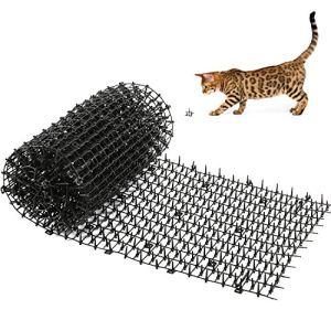 Kohree Anti-Chat avec Pointes, 200x 30cm Tapis de dissuasion répulsif répulsif de pointes d'animaux de chien de chat de, Tapis anti-chat pour jardin intérieur extérieur, clôture