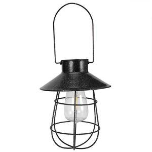 Kuuleyn Lumière Solaire Suspendue, Lanterne Solaire imperméable à l'eau Suspendue lumière extérieure Fer Art Creux LED lumière décor à la Maison