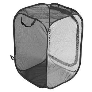 Ladieshow Cages d'élevage de logement de Cage d'insectes ventilées Pliables de Serre végétale de