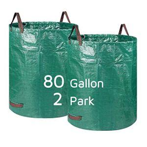 Lagaga Grand sac de jardin résistant avec poignée pour extérieur, pour jardin, pelouse, terrasse, piscine (2 parcs)