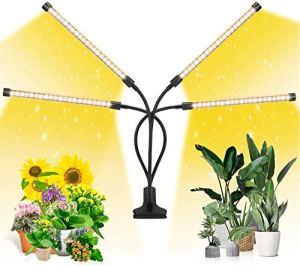 Lampe de Plante Lampe de Croissance à 360° Lampe Horticole Spectre Complet Chronométrage 3H/6H/12H/ 4 Modes de Luminosité/ 10 Niveaux Dimmables de Luminosité PourIntérieur/Serre/Hydroponique