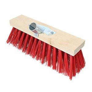 Linxor France ® Balai cantonnier en bois – 32 cm – Rouge – Norme CE