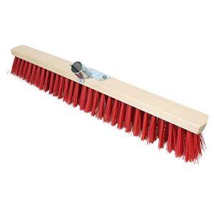 Linxor France ® Balai cantonnier en bois – 60 cm – Rouge – Norme CE