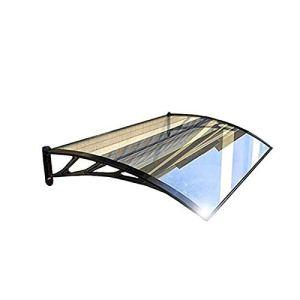 LLSS Auvent Auvent Extérieur Abri de Pluie Porte Fenêtre Auvent Couverture extérieure Feuilles de Polycarbonate | Abri de Pluie pour Porte et fenêtre | Taille et Couleur Multiples,80×100cm