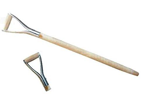 Lot de 3 manches de bêche, fourchette funéraire, manche en bois, poignée en métal, Ø 38 mm, 95 cm