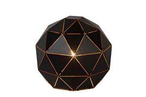 Lucide OTONA – Lampe De Table – Ø 25 cm – Noir