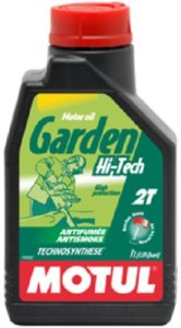 Motul – Garden Hi-Tech 2T – Huile de moteur anti fumée – 1litre